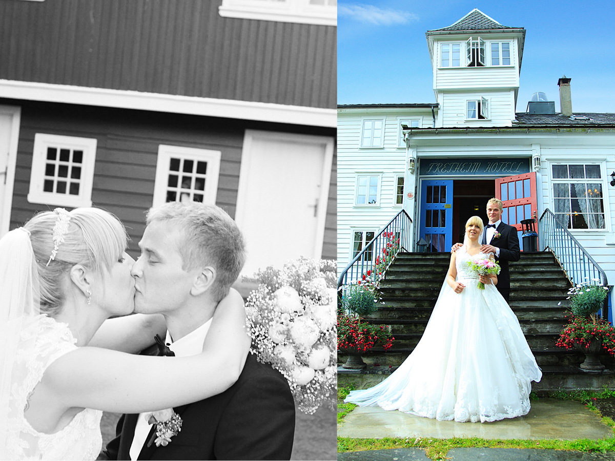 Photo of a wedding at Fretheim Hotel in Flåm, Norway