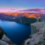 Preikestolen Panoramic Sunset