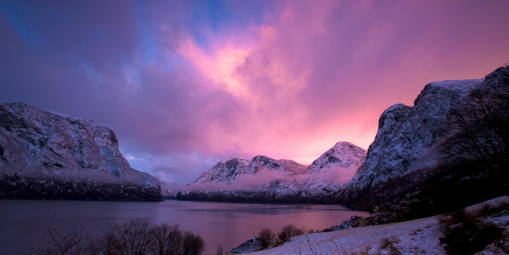 Sunset_Over_The_Aurlandsfjord_By_Paul_Edmundson